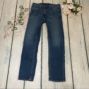 Levi's 505 jeans W32 L32 regular men's denim blue straight faded medium wash